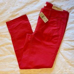 Loft size 2 petite red Marisa Skinny Pants